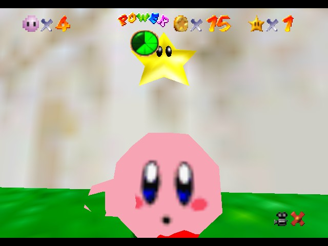 Super Mario 64 - Kirby Edition - Power star - User Screenshot